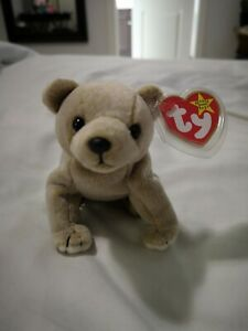 Ty-Beanie-Baby-RARE-ALMOND-1999-MINT-CONDITION-RETIRED