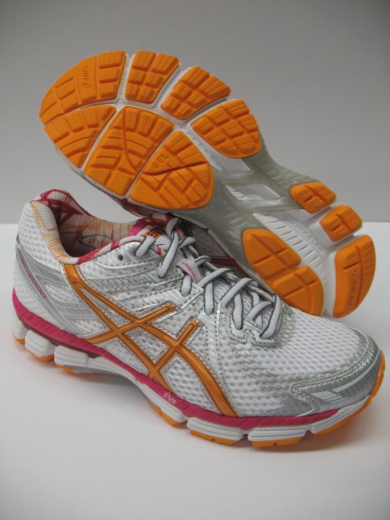 Asics T2K7N GT-2000 Running Training Racing Damenschuhe Schuhes Sneakers Weiß Orange Damenschuhe Racing 5 f38d8e