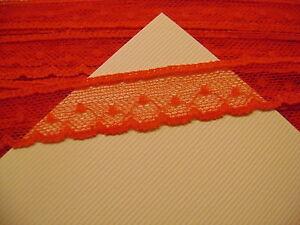 13 Mètres De Dentelle Nylon élastique Rouge Fine Hauteur 2,40 Cm N° 30 Soulager Le Rhumatisme