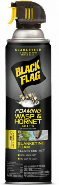 Black Flag FOAMING WASP & HORNET KILLER 14 oz. 20' Jet Spray Blanketing HG-11089