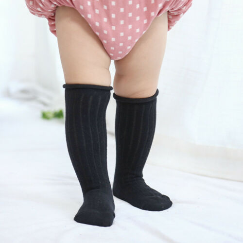 Newborn Baby Kids Toddler Knee High Cute Long Sock Boys Girls Leg Warmers Socks