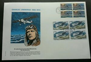 [SJ] USA France Joint Issue Charles Lindbergh 1977 Airplane (joint FDC) *recess