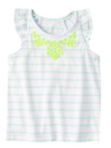 Novo Com Etiquetas Gymboree Meninas Safari Azul Tee camisa Top Listrado Novo Tamanho 8