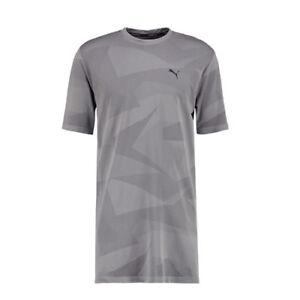 6a01e1bd1ac Puma Evo Knit Image Tee Graphic Grey Mens Long Style T-Shirt Top ...