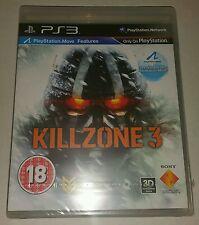 KILLZONE 3 PS3 New Sealed UK PAL Version Game Sony PlayStation 3 Black Label