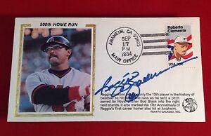 Reggie Jackson signed 1984 500th Home Run Cachet PSA/DNA Cert# W40432