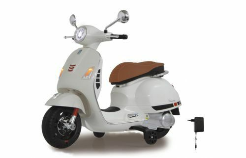 Ride On – Roller Vespa Kinderelektroroller, Weiß, LED-Scheinwerfer Top 460346