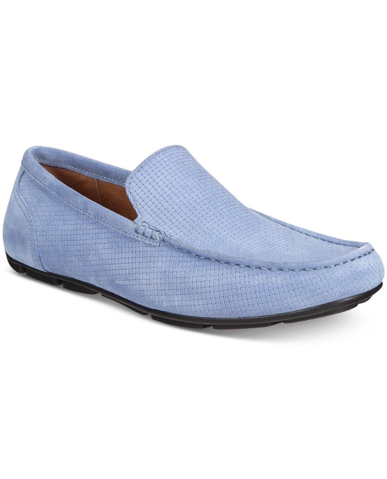 Alfani Men's Kendric Textured Drivers, Size 9 1 2 M Denim Grey