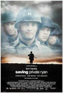 Saving Private Ryan 1998 Original 27x40 Movie Poster Tom Hanks Spielberg Ebay