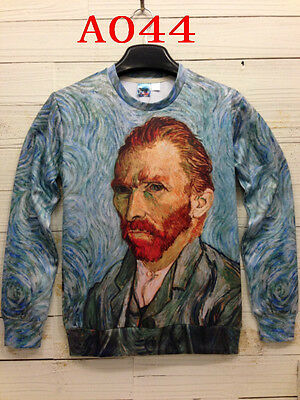 Mens womens 3D Van Gogh print Hoodies sweatshirt Unisex jumper Pullover shirt