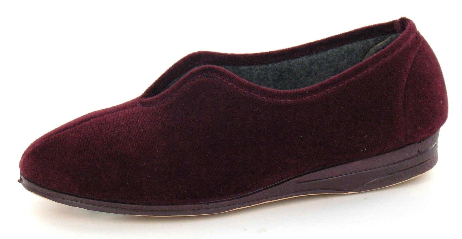 Offerta Ladylove' Mandy ' Donna Vino Pantofole Slip On Intera Tessuto Pantofole Vino 723e00