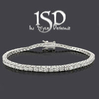 ".925 Sterling Silver Womens White Fancy Round Cut CZ Tennis Bracelet 6.5"" 7"" 8"""