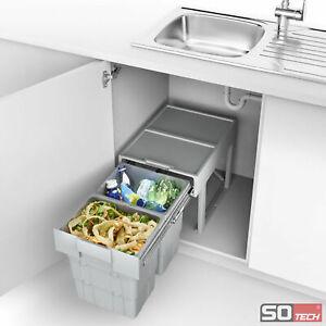 SO-TECH-Abfalltrennsystem-Muellsammler-Muelltrenner-Eimer-Auszug-Einbau-Trennung
