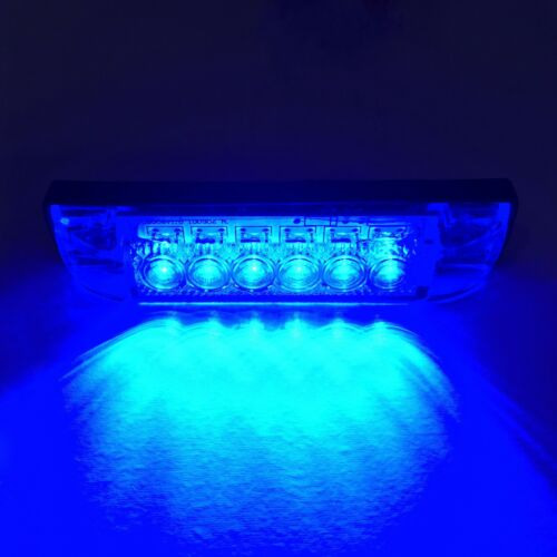 "LED Blue Slim Line RV Utility Strip Light Bar 4/"" x 1/"" Boat Utility Lamp Semi"