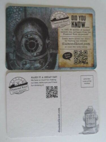 Washington; Shipwreck Beer Coaster DIAMOND KNOT Brewing Co Est 1994 ~ Mukilteo