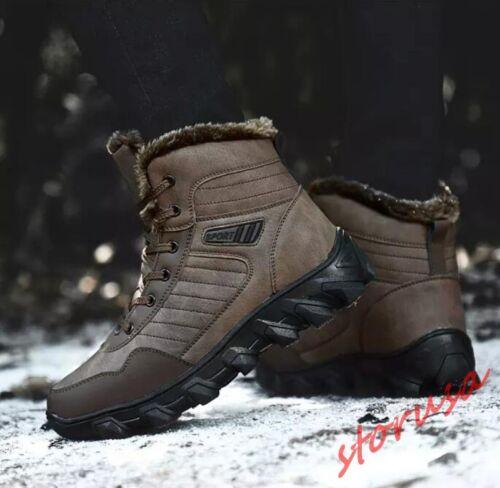 Scarpe uomo Fur Lining Warm Up High Sz Snow Top Outdoor Boots da Lace Winter qC1w7