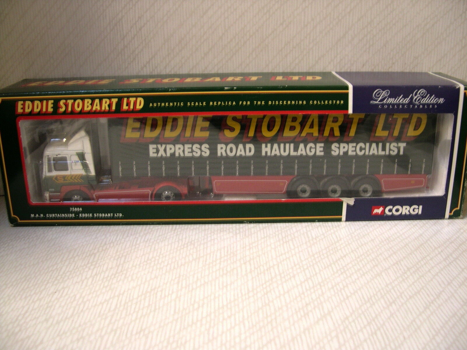 CORGI 75804 M.A.N Curtainside-Eddie Stobart LTD