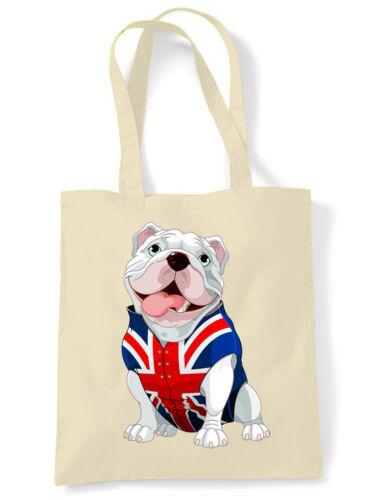 Union Jack Bull Dog BRITISH BULLDOG TOTE \ SHOULDER BAG Choice Of Colours