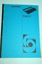 Bang & Olufsen Beogram CD X Service Manual