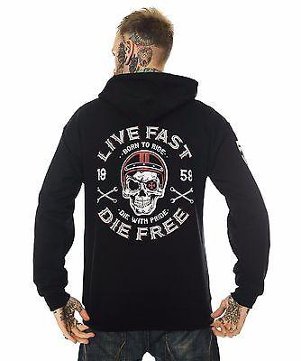 Dragstrip vêtements à capuche pour homme top live fast die free hot rod hoody biker sweat à capuche | eBay