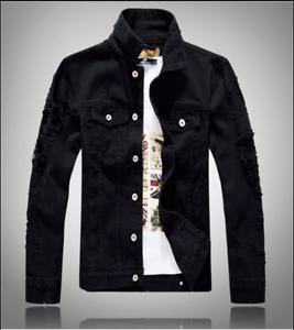 New Men/'s fashion denim jacket coat casual jean jackets coat outwear tops coats