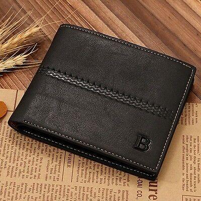 Fashion Men's Bifold Leather Card Holder Purse Handbag Billfold Wallet Clutch