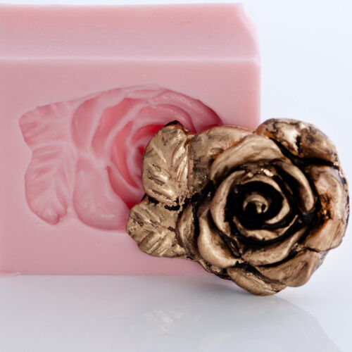 Floral Rose Silicone Mold Soap Wax Candle Chocolate Fondant Clay PMC Mold 503