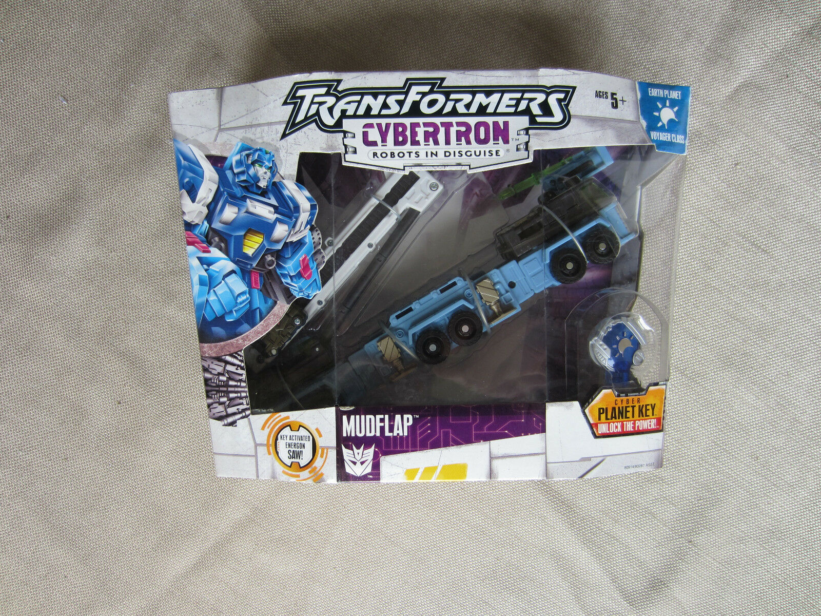 Transformers Action Figure Cybertron Earth Planet Voyager class Mudflap New