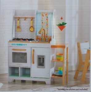Details About Kidkraft Vintage Luxe Boho Bungalow Wooden Play Kitchen New