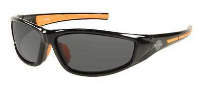 Harley-Davidson Men's Lifestyle Black&Orange w/Grey Lens Sunglasses HDS607BLK-3