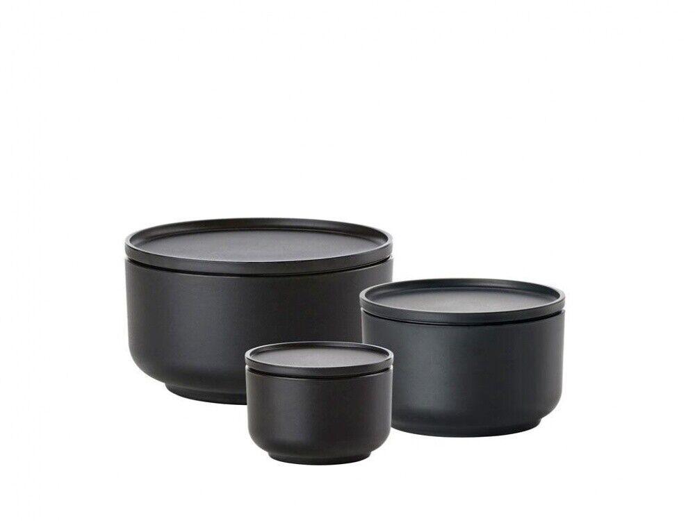 Zone Peili Bol avec couvercle 3er Set noir 330750