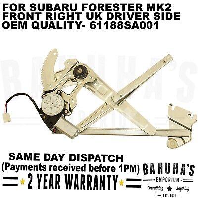 Moteur Fits Subaru Forester MK2 2002 /> 2012 Avant Droite Électrique Fenêtre Régulateur