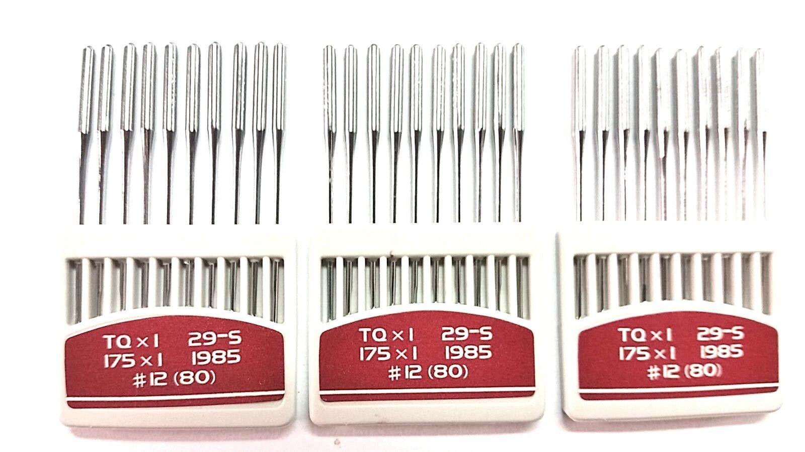 TQx1, 30Pcs.Nm.80/12 ORANGE Industrial Button Sewer Sewing Machine Needles