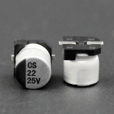 20PCS 100UF 25V SMD Aluminum Electrolytic Capacitors 6X7mm