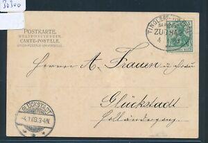 30300) Bahnpost Ovalstempel Tingleff-tondern Train 842, Ak T. Chrétien église 1903-afficher Le Titre D'origine