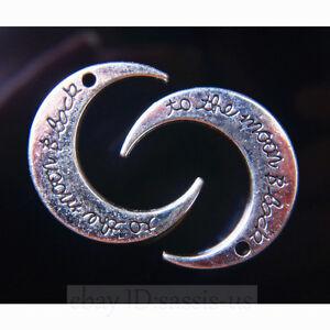 10-piece-30mm-Moon-Pendant-Connector-Tibetan-Silver-DIY-Jewelry-Necklace-A7761