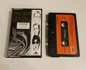 THE JAM DIG THE NEW BREED LIVE CASSETTE TAPE 1982 RED PAPER LABEL POLYDOR UK