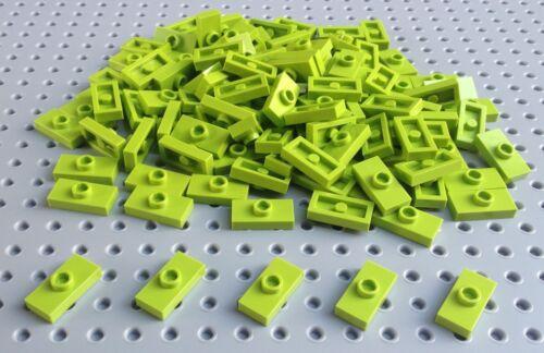 Lego Lime Green 1x2 Plate 'Jumper' 3794 / 15573 x25 a set BRAND NEW Minecraft