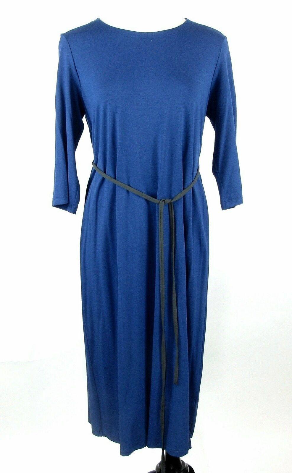Eileen Fisher Fisher Fisher Size S bluee Jersey Knit Dress 0b17c0