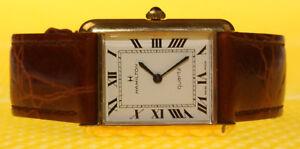 6f9cacbc059 Men s Vintage HAMILTON Cartier-Homage Quartz Watch Leather Band ...