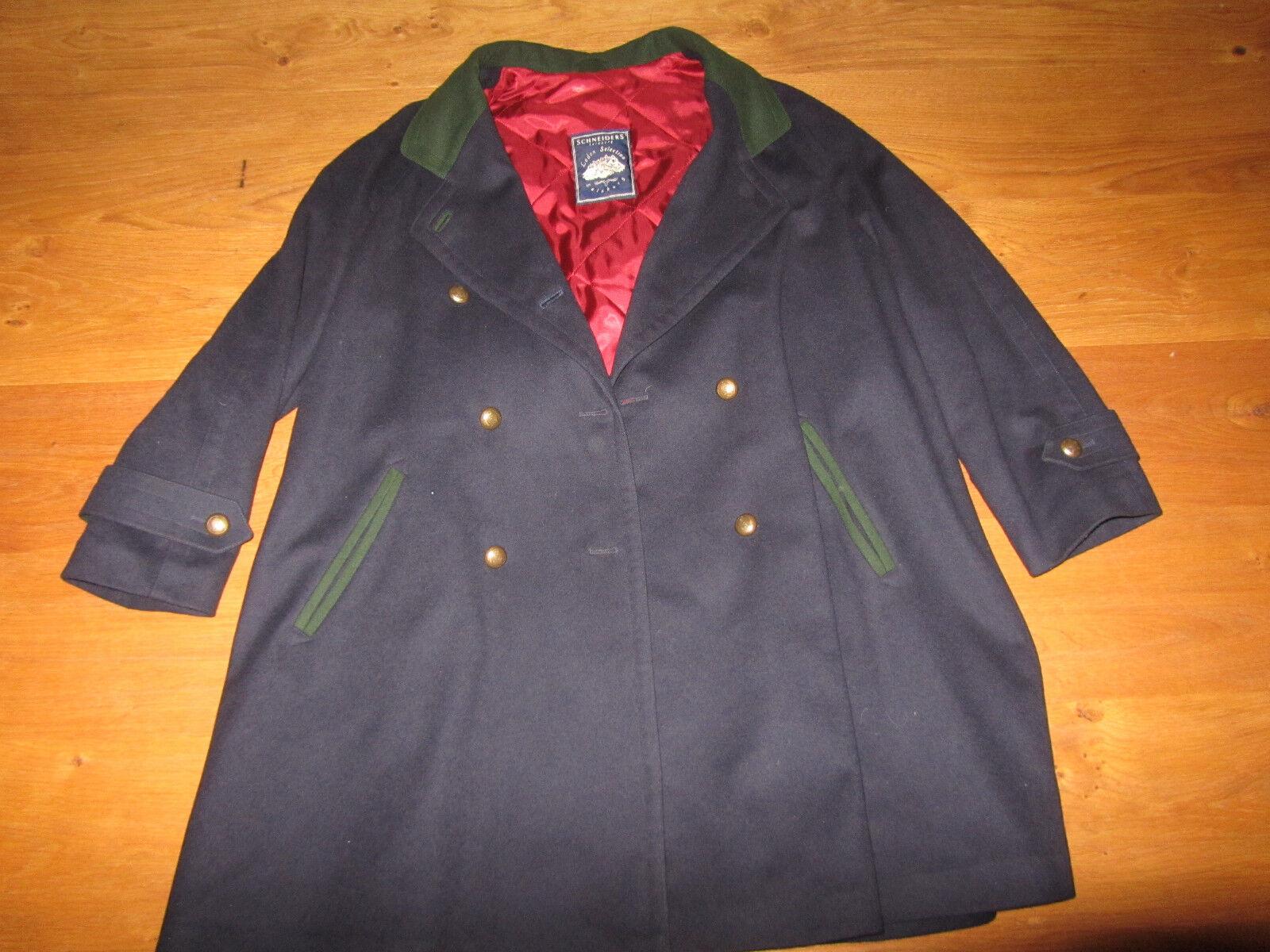 Hübscher Schneiders Salzburg Mantel mit mit mit Kaschmir Gr. 38 4300a5