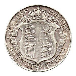 KM# 818.1 - Half Crown - 2 1/2 Shillings - George V - Great Britain 1913 (VF)