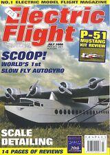 ELECTRIC FLIGHT MAGAZINE 2000 JUL P51 D MUSSTANG MISS AMERICA, MILES SPARROWHAWK