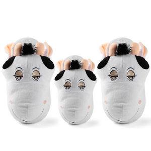 e529951669dc5 Kids Women s Home Plush Bedroom Animal Cow Slipper Indoor Shoes Size ...