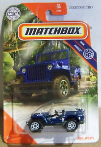2020 Matchbox MBX Jungle #68//100 Jeep Willys Blue NIP