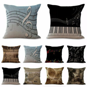 Am-KF-3D-Musical-Note-Linen-Pillow-Case-Throw-Waist-Cushion-Cover-Home-Decor