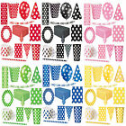 New Polka Dots Spots Christening Birthday Party Supplies Tableware Decorations