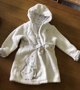 Bébé Fille Mothercare Robe Blanche 6-12 Mois, Bébé Robe De Chambre, état Neuf-afficher Le Titre D'origine
