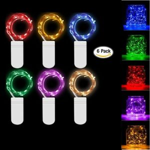 6-x-2M-20-LED-Mini-Starry-LED-Copper-Wire-String-Fairy-Lights-Battery-Operated