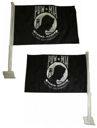 "12x15.5 POWMIA POW MIA Double Sided Nylon Car Window Vehicle 12/""x15.5/"" Flag"